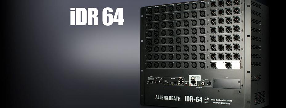 Noleggio Mixer Digitale della serie iLive della Allen Heath IDR64.