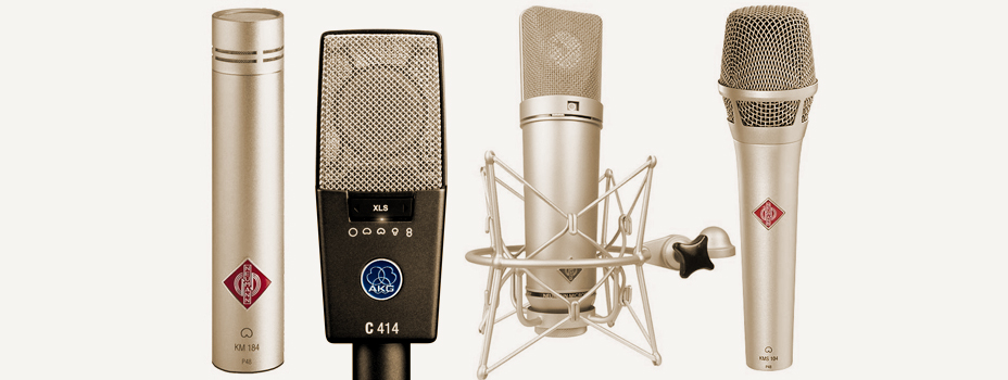 Noleggio Microfoni per Voce o Sgtrumenti a Condensatore.