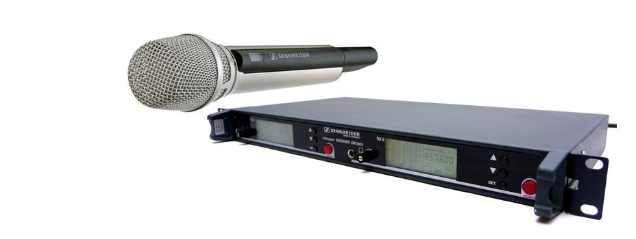 Noleggio Radiomicrofoni Palmari (Radio Microfoni Gelato) Sennheiser. Radiomicrofoni Sennheiser SKM 5000.