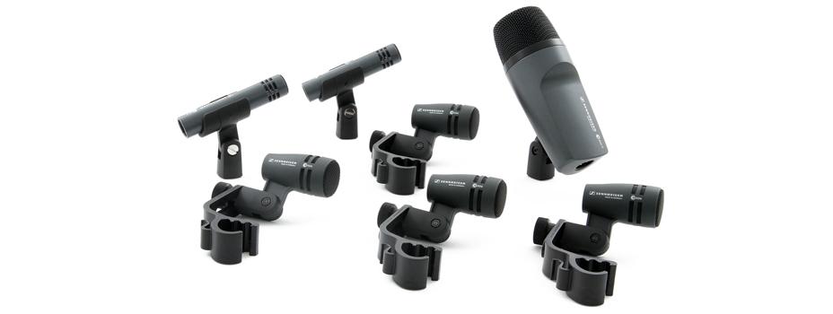 Noleggio Set Microfoni Batteria (Mic Drum Kit) Sennheiser.