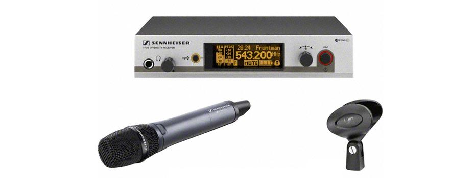 Noleggio Radiomicrofoni Palmari (Radio Microfoni Gelato) Sennheiser. Radiomicrofoni Sennheiser EW335G3.