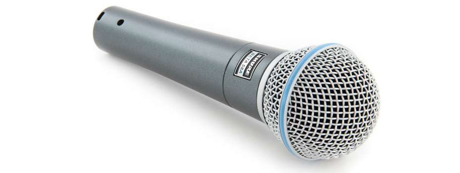 Noleggio Microfoni Palmari Shure Beta58 A (Microfoni Gelato).