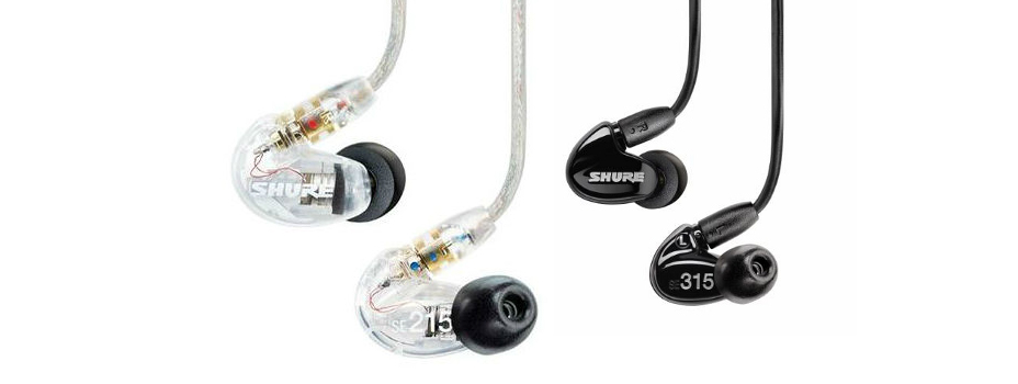 Noleggio earphones (Auricolari) Shure per sistemi In Ear Monitor Wireless.