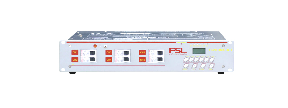 Noleggio unità Dimmer Luci DMX 512 a 6 canali per ogni Dimmer.