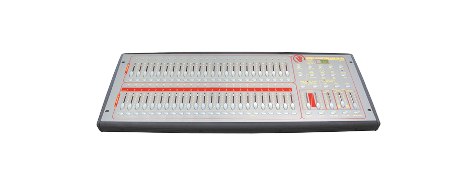 Noleggio Mixer Luci, Re. Regia dmx programmabile a 24/48 canali.