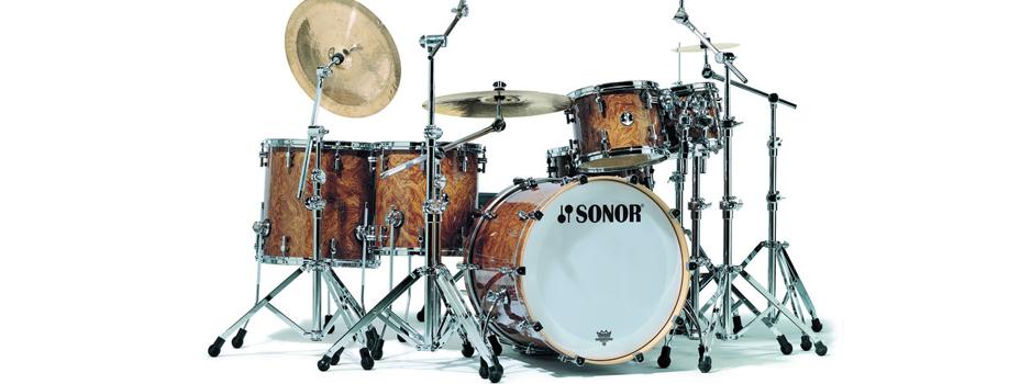 Noleggio Batteria (Drum Set) Sonor Designer African Bubinga.